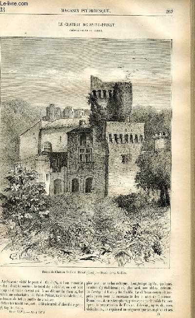 LE MAGASIN PITTORESQUE - Livraison n°33 - Le château de Saint Privat (Gard).