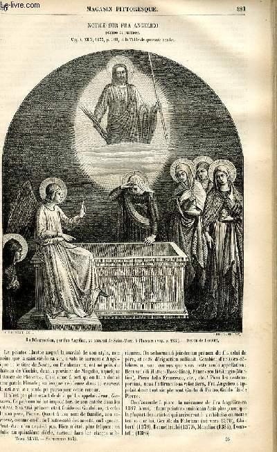 LE MAGASIN PITTORESQUE - Livraison n°36 - Notice sur Fra Angelico (Guido di Pietro).