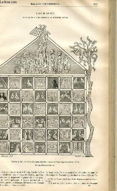 LE MAGASIN PITTORESQUE - Livraison n°39 - L'arche de Noé telle qu