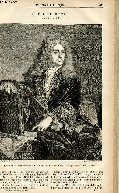LE MAGASIN PITTORESQUE - Livraison n°44 - Robert de Cotte, architecte.