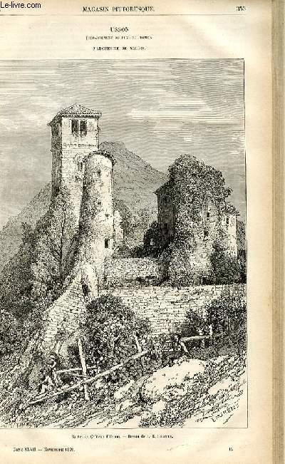 LE MAGASIN PITTORESQUE - Livraison n°45 - Usson (Puy De Dôme) - Marguerite de Valois.