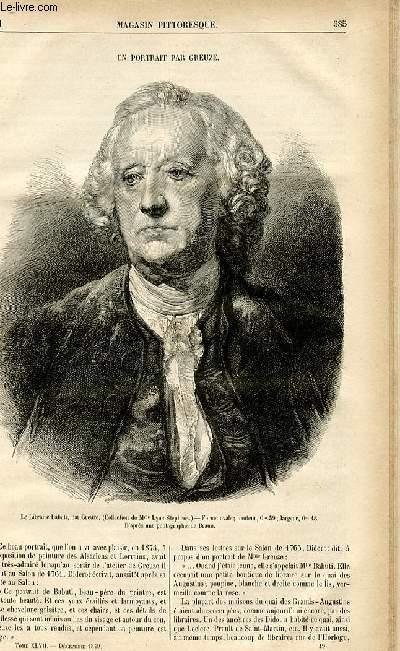 LE MAGASIN PITTORESQUE - Livraison n°49 - Un portrait par Greuze.