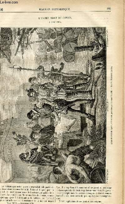 LE MAGASIN PITTORESQUE - Livraison n°50 - L'ancien droit de Cyprès à Bordeaux.