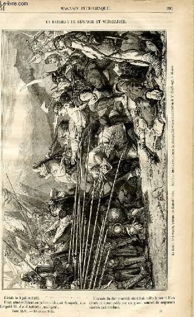 LE MAGASIN PITTORESQUE - Livraison n°51 - La bataille de Sempach  et Winkelried.