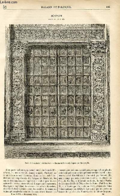 LE MAGASIN PITTORESQUE - Livraison n°52 - Bénévent (Italie du Sud).