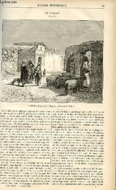 LE MAGASIN PITTORESQUE - Livraison n°05 - Le fellah (Egypte).