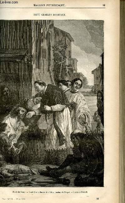 LE MAGASIN PITTORESQUE - Livraison n°11 - Saint Charles Borromée.