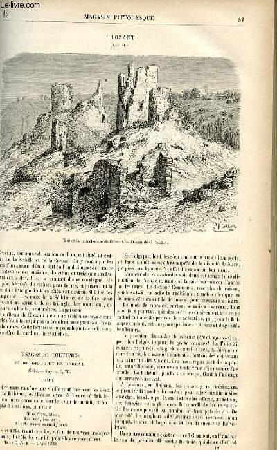 LE MAGASIN PITTORESQUE - Livraison n°12 - Crozant (Creuse).