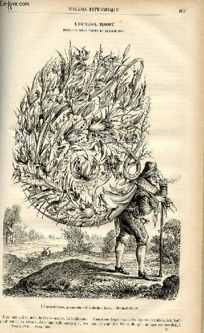 LE MAGASIN PITTORESQUE - Livraison n°14 - L'espagnol trompé dans ses idées vaines et chimériques.