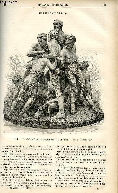 LE MAGASIN PITTORESQUE - Livraison n°16 - Le jeu de foot-ball (rugby).