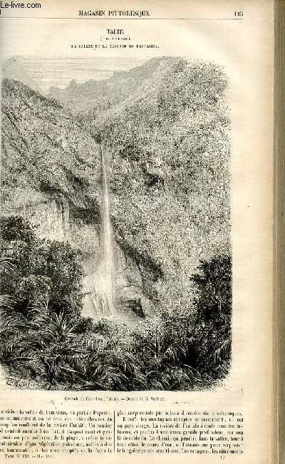 LE MAGASIN PITTORESQUE - Livraison n°19 - tahiti (Polynésie) - la vallée et la cascade de Fautahua.