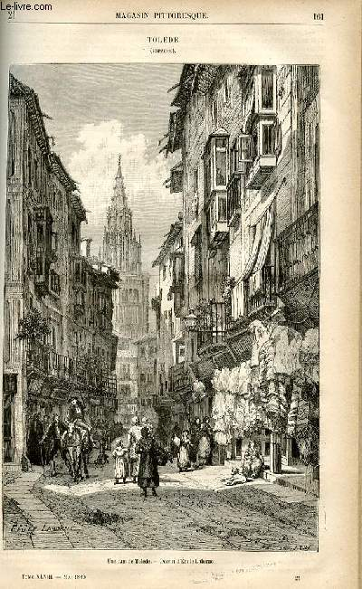 LE MAGASIN PITTORESQUE - Livraison n°21 - Tolède (Espagne).