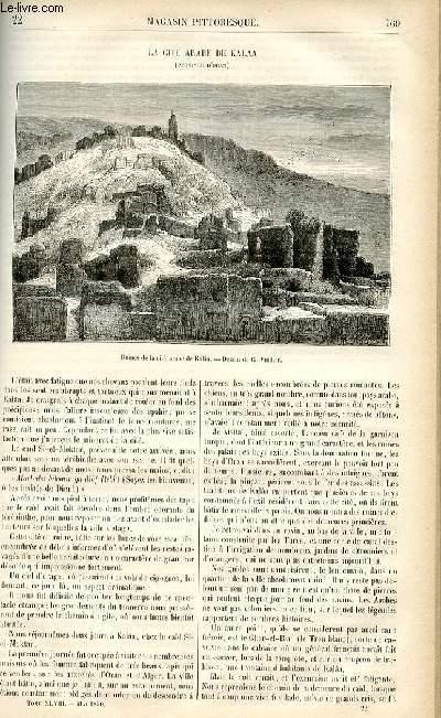 LE MAGASIN PITTORESQUE - Livraison n°22 - La cité arabe de Kalaa (Oran).