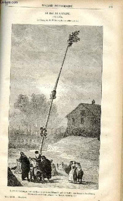 LE MAGASIN PITTORESQUE - Livraison n°23 - Le mât de cocagne par Goya.