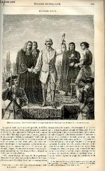 LE MAGASIN PITTORESQUE - Livraison n°24 - Le major Davel.