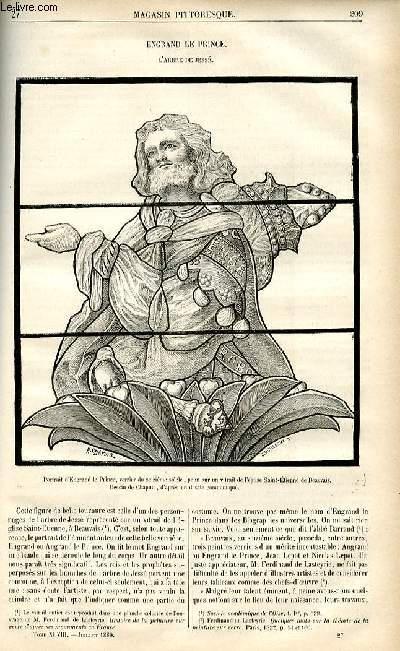 LE MAGASIN PITTORESQUE - Livraison n°27 - Engrand le prince, l'arbre de Jessé.