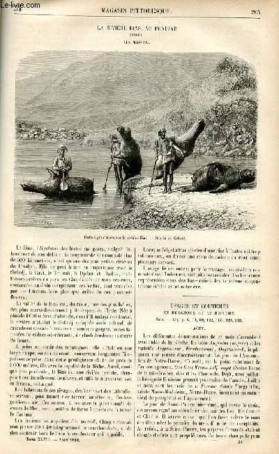 LE MAGASIN PITTORESQUE - Livraison n°34 - La rivière Bias au Pendjab (Inde) - Les Massak.