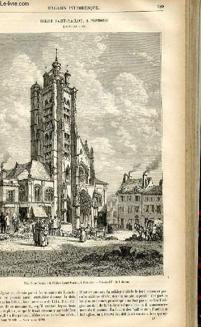 LE MAGASIN PITTORESQUE - Livraison n°37 - Eglise Saint Maclou à Pontoise (Seine et OIse).