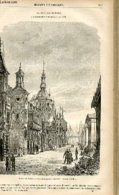 LE MAGASIN PITTORESQUE - Livraison n°38 - La rue des Nations à l'exposition universelle de 1878.