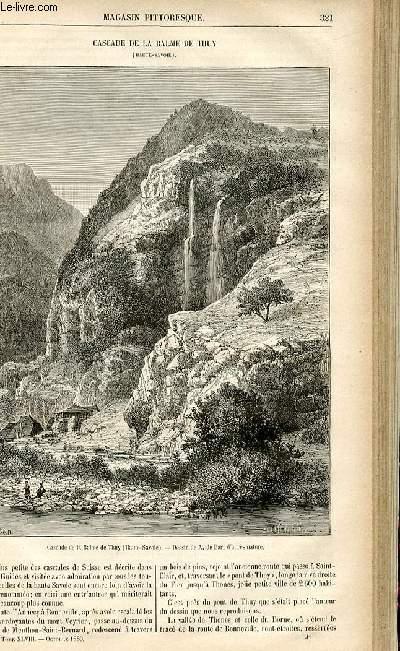 LE MAGASIN PITTORESQUE - Livraison n°41 - Cascade de la Balme de Thuy (haute Savoie).