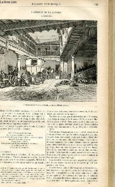 LE MAGASIN PITTORESQUE - Livraison n°44 - L'auberge de la Sangre à Tolède.