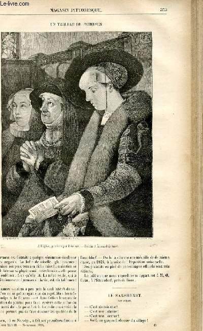 LE MAGASIN PITTORESQUE - Livraison n°45 - Un tableau de Petersen.