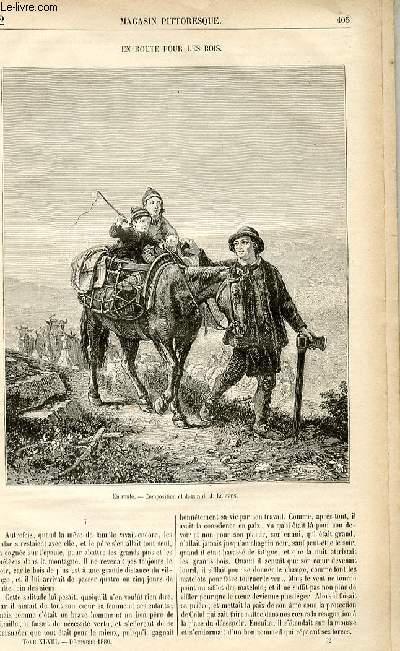 LE MAGASIN PITTORESQUE - Livraison n°52- EN ROUTE POUR LES  BOIS.