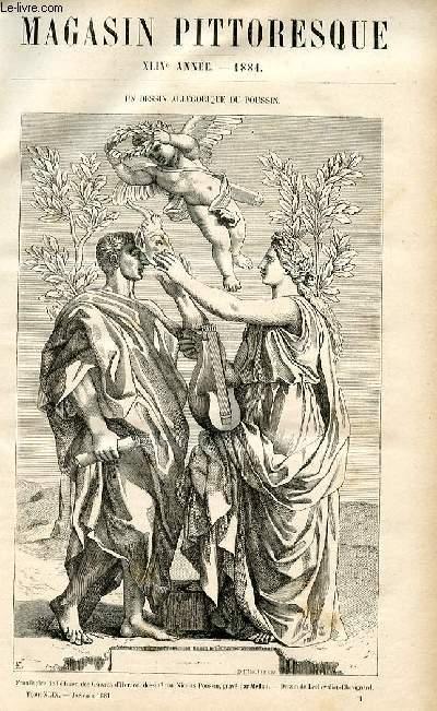 LE MAGASIN PITTORESQUE - Livraison n°01 - Un dessin allégorique du Poussin.