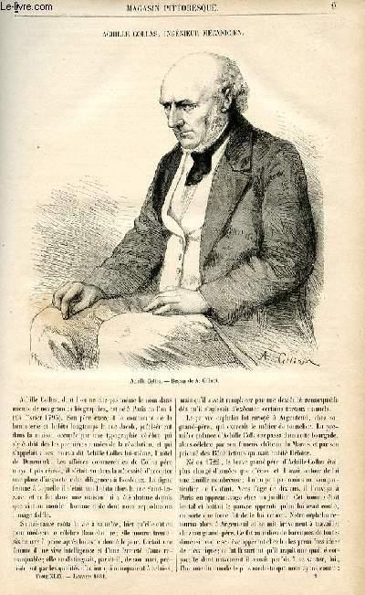 LE MAGASIN PITTORESQUE - Livraison n°02 - Achille Collas, ingénieur mécanicien.