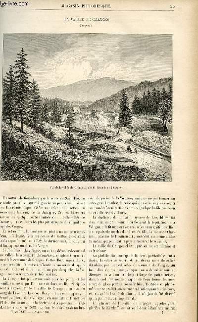 LE MAGASIN PITTORESQUE - Livraison n°04 - La vallée des Granges (Vosges).