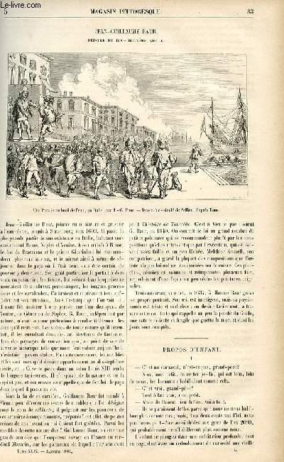 LE MAGASIN PITTORESQUE - Livraison n°05 - Jean Guillaume Baur, peintre du 18ème siècle.