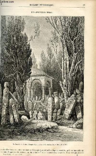 LE MAGASIN PITTORESQUE - Livraison n°08 - Les cimetières turcs.