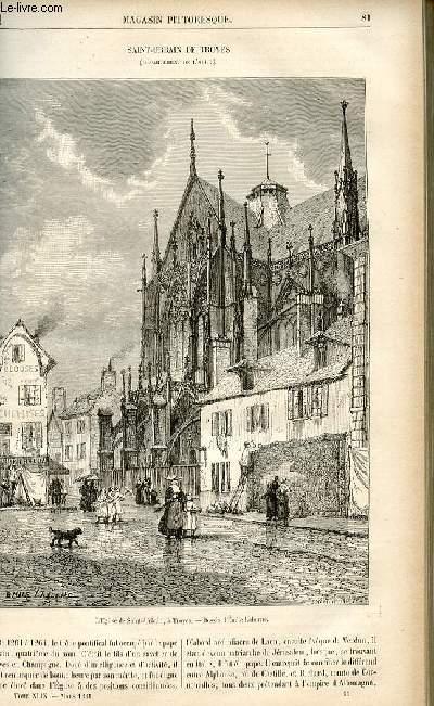 LE MAGASIN PITTORESQUE - Livraison n°11 - Saitn Urbain de Troyes (Aube).
