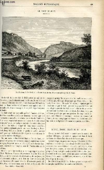 LE MAGASIN PITTORESQUE - Livraison n°12 - Le fort de joux (Doubs).