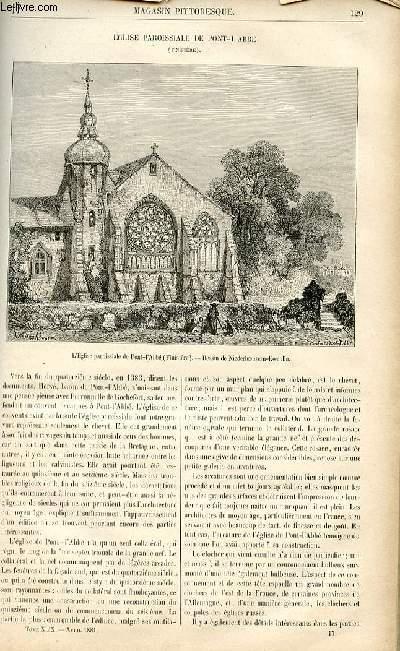 LE MAGASIN PITTORESQUE - Livraison n°17- Eglise paroissiale de Pont L'Abbé (Finistère).