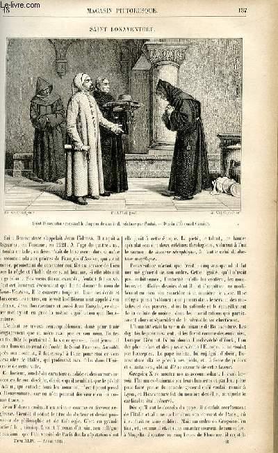 LE MAGASIN PITTORESQUE - Livraison n°18 - Saint Bonaventure.