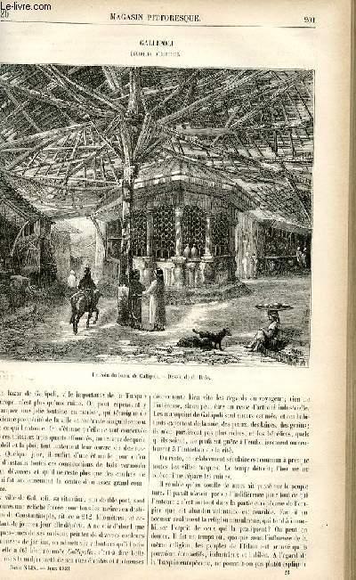 LE MAGASIN PITTORESQUE - Livraison n°26 - Gallipoli (Turquie d'Europe).