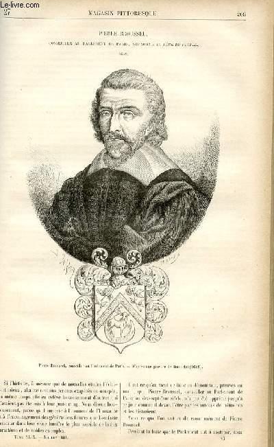 LE MAGASIN PITTORESQUE - Livraison n°27 - Pierre Broussel, conseiller au parlement de PAris surnommé le Père du Peuple -1648.
