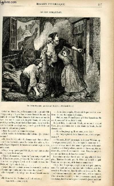 LE MAGASIN PITTORESQUE - Livraison n°28 - Le bon samaritain.