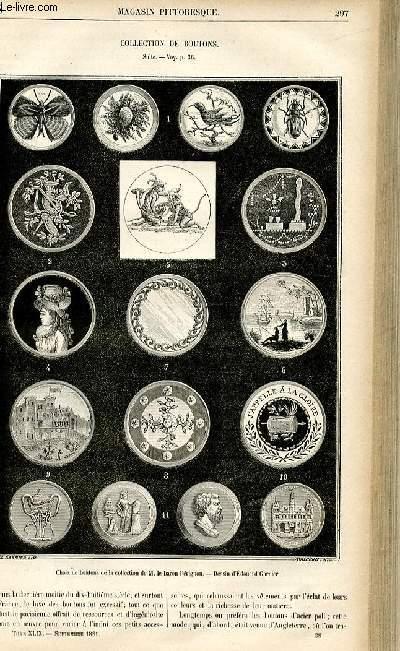 LE MAGASIN PITTORESQUE - Livraison n°38 - Collection de boutons ,suite.