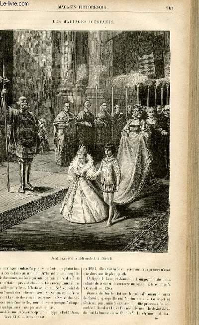 LE MAGASIN PITTORESQUE - Livraison n°40 - Les mariages d'enfants.
