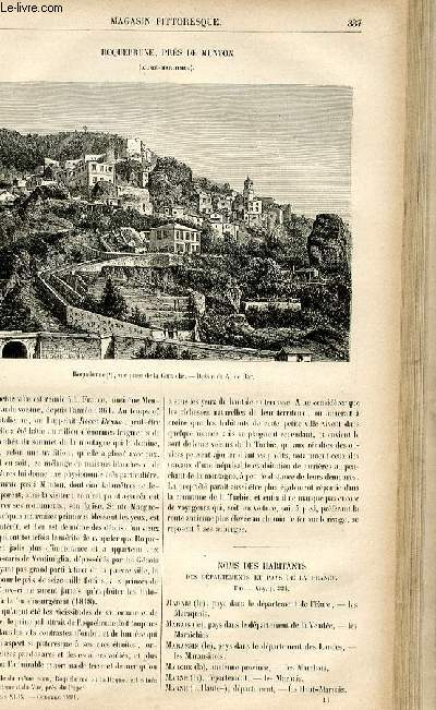 LE MAGASIN PITTORESQUE - Livraison n°43 - Roquebrune, près de Menton (Alpes MAritimes).