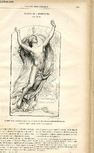 LE MAGASIN PITTORESQUE - Livraison n°49 - Le génie de l'immortalité par Chapu.