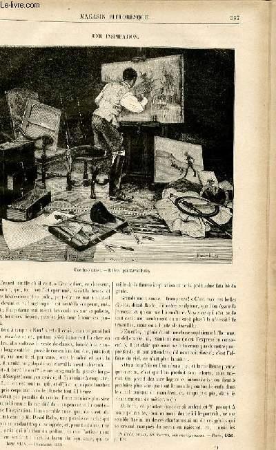 LE MAGASIN PITTORESQUE - Livraison n°51 - Une inspiration.