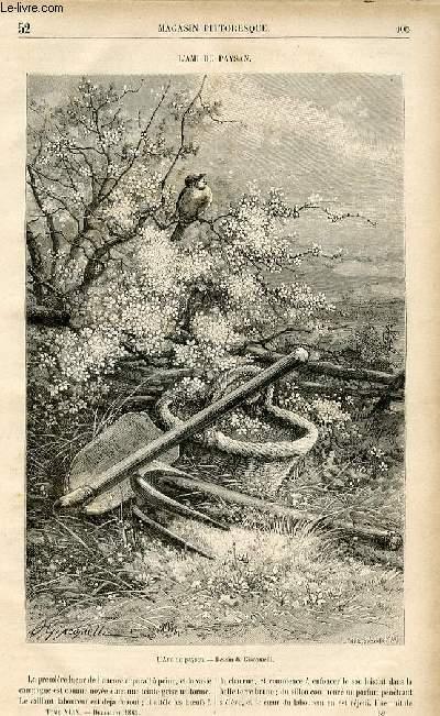 LE MAGASIN PITTORESQUE - Livraison n°52 - L'ami du paysan.