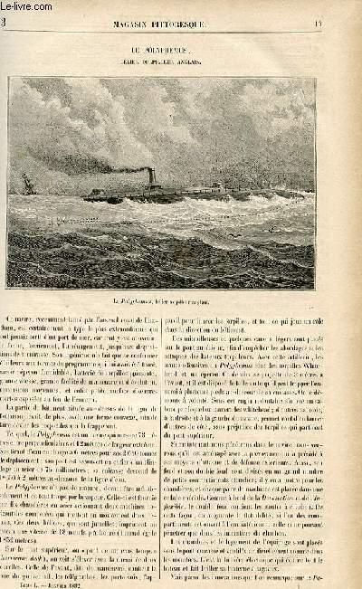 LE MAGASIN PITTORESQUE - Livraison n°03 - Le polyphémus, bélier torpilleur anglais.