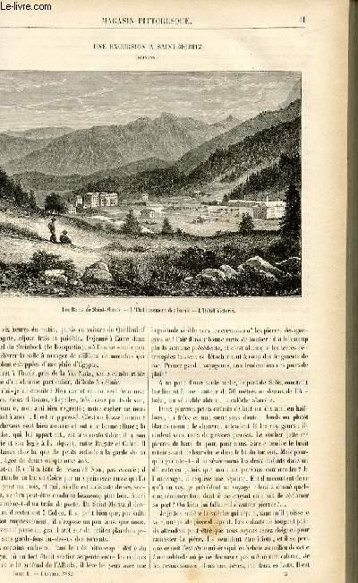 LE MAGASIN PITTORESQUE - Livraison n°06 - Une excursion à Saint Moritz (Grisons).