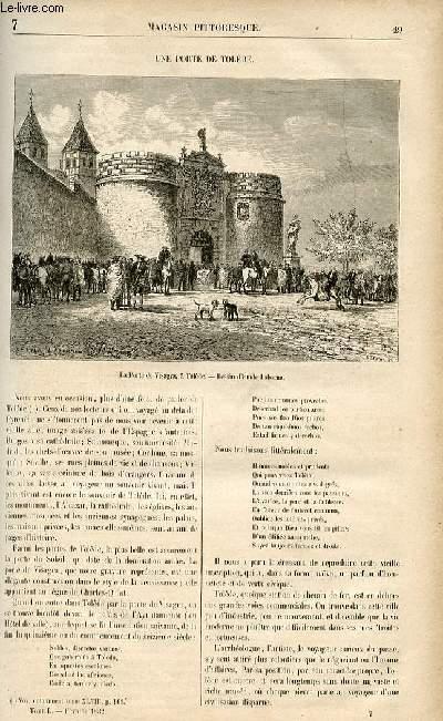LE MAGASIN PITTORESQUE - Livraison n°07 - Une porte de Tolède.