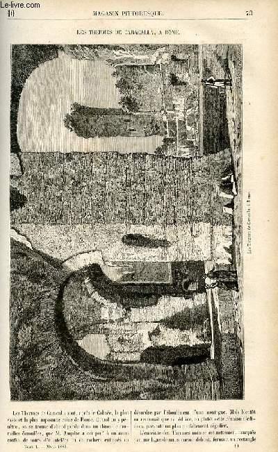 LE MAGASIN PITTORESQUE - Livraison n°10 - Les thermes de Caracalla à Rome;
