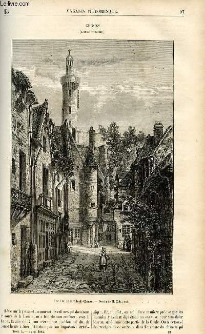 LE MAGASIN PITTORESQUE - Livraison n°13 - Chinon, Indre et Loire.